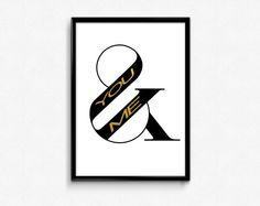 You and me sign Ampersand Print Instant Download Digital Fonts Ampersand Sign