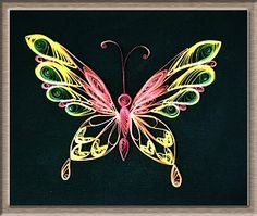 A quilled butterfly