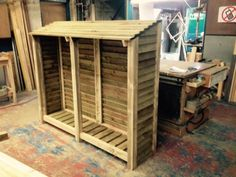 Log Store available to suit your needs. Designed for customer. Price given for 1.8m x 1.5m x