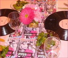 Theme Idea: Pretty in Pink Eighties Dinner Party. #CookForTheCure Credit: Maggie's Dinner Dates