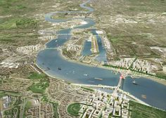 Farrells proposes new bridges for River Thames in east London