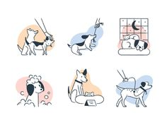 Browse thousands of Dog Illustration images for design inspiration   Dribbble Music Illustration, Illustrations, Hospital Design, Music Logo, Puppy Party, Fun At Work, Motion Design, Cute Dogs, Cute Animals