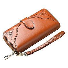 Women Wallet Brown Leather Long Zipper Wristlet Purse Clutch Handmade http://www.amazon.com/dp/B0171S9CI4/ref=cm_sw_r_pi_dp_zHt3wb0724FKV