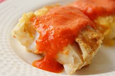 Parmesan Crusted Cod with Red Bell Pepper Sauce