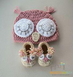 Crochet owl hat & booties