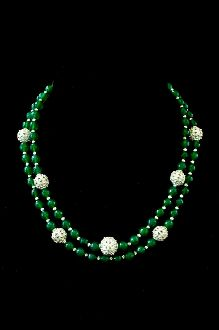 Green Onyx with Sterling Silver Necklace