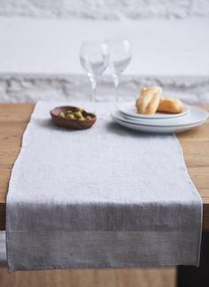 Designed exclusively for Blarney Woollen Mills, this elegant table runner is the perfect way to bring a piece of original Irish made linen to the home Chambray, Woolen Mills, Elegant Table, Table Runners, Irish, Dining, Tableware, Home Decor, Grey