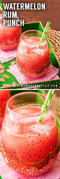 A refreshing watermelon alcoholic punch with hints of citrus and spiked with white rum. It's the perfect watermelon cooler to beat the heat! Alcoholic Punch Recipes, Rum Punch Recipes, Alcohol Recipes, Drink Recipes, Party Recipes, Summer Alcoholic Punch, Alcoholic Beverages, Summer Recipes, Watermelon Punch