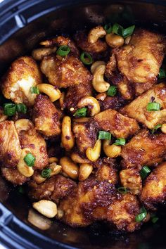 An amazing slow cooker meal that is way better than takeout!  The chicken is breaded to perfection and the sauce is full of flavor!  The cashews hidden throughout are the best part! My love for cashews run deep.  One time I bought a big thing of cashews from Costco and ate the entire thing by …
