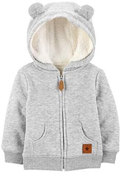 Simple Joys by Carter's Baby Hooded Sweater Jacket with Sherpa Lining: Clothing Neutral Baby Clothes - a board with adorable baby clothes for baby boy and baby girl. Winter Baby Clothes, Baby Winter, Cute Baby Clothes, Baby Clothes Shops, Winter Clothes, Jumper, Hooded Sweater, Sweater Jacket, Hooded Jacket