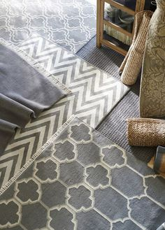 Sophisticated grays underfoot.