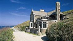 Front of Bar Lodge, Penrose, Helston, Cornwall - a national Trust cottage we rented one year