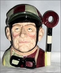A Royal Doulton Jockey Character Jug, large, Trial Colourway (and ETC)