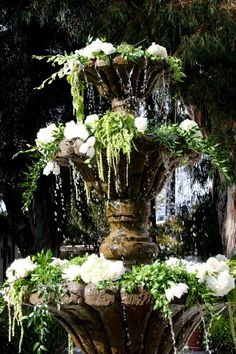 Water Fountain Florals...............