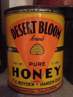 """""""Desert Bloom"""" honey tin, another one of my honey tins in my collection"""