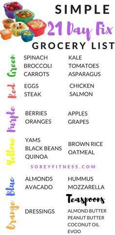 Everything you need to get max results with the 21 Day Fix | 21 day fix grocery list | autumn calabrese 21 day fix meal plan | 21 day fix approved foods