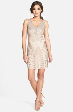 beaded sleeveless cocktail dress @nordstrom #nordstrom