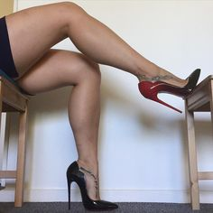 """heellicit-highness: """"Don't live like everyone else, live different. by kristallouboutin. Nylons Heels, Pantyhose Legs, Sexy Heels, Heel Pumps, Pointed Toe Pumps, Stiletto Heels, Curvy Stockings, Nylon Stockings, Crazy Heels"""