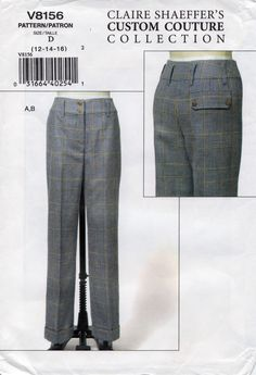 Vogue 8156 Claire Shaeffer Trousers