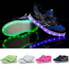 2018 New Fashion Adult Led Shoes Mesh Breathable Men Shoes Printing Lace-up Glowing Lovers Sneakers Big Kids Shoes Size 36-44 Volume Large Men's Casual Shoes