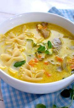 Zupa z boczniaków - etap 1