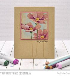 Card Kit, Card Tags, I Card, Copic Sketch Markers, Blooming Flowers, Flowers In Bloom, Mft Stamps, Die Cut Cards, Penny Black
