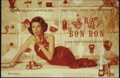 Revlon Berry Bon Bon ad, 1960