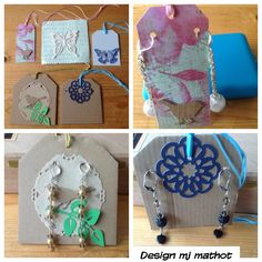 Sizzix big shot labels as earring packages