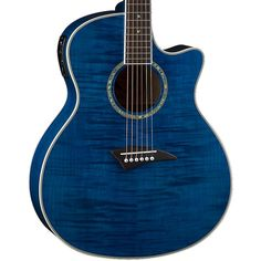 Buy Dean Exotica FM Trans Blue Acoustic Electric Guitar EFMTBL at ZoZoMusic.com