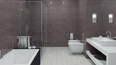 rekonstrukce panelákové koupelny fotogalerie inspirace Ceramic Board Dark Grey & Decor Patchboard Dark Grey