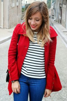 Red coat #fashion #fashionblog