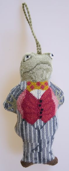 M. Toad (Wind in the Willows) needlepoint ornament