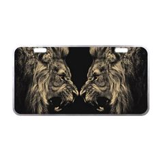 "11.8"" X 6.1"" Customize Novel Cool Lion Car License Plate made from Aluminum Silver Trim -- Awesome products selected by Anna Churchill"