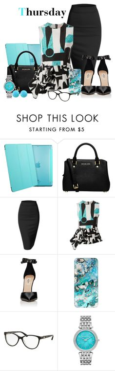 """Thursday"" by misshonee ❤ liked on Polyvore featuring Folio, MICHAEL Michael Kors, Doublju, Roksanda, Valentino, Casetify, Bulgari, Michael Kors and Effy Jewelry"