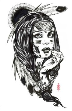 native american drawing drawings easy hipster indian tattoos