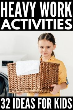 32 Heavy Work Activities for Kids | If you're looking for proprioceptive activities to help your child with body awareness, self-regulation, and focus at school, at home, or in Occupational Therapy, these fun and engaging gross motor activities are a great place to start! Engaging students in regular brain breaks can help make learning easier, making this list a great tool for teachers and parents of kids of all ages and abilities. Proprioceptive Activities, Gross Motor Activities, Work Activities, Sensory Activities, Sensory Kids, Physical Activities, Kids Inspire, Self Regulation, Sensory Processing Disorder