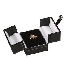 Black Faux Leather Snap-Tab Ring Gift Box Item #: 40009711Item #: 40009711