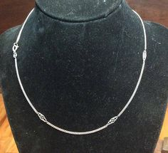Cool Curb and Infinity Link Chain Figure Eight Necklace
