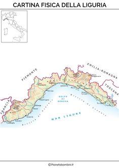 Cartina Italia Politica Liguria.10 Idee Su Cartine Geografia Fisico Mappe