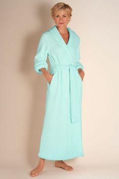 Classic Chenille Robe - Wrap Style Robe, Soft Robe, Shawl Collar, Three-quarter Length Sleeves | Soft Surroundings
