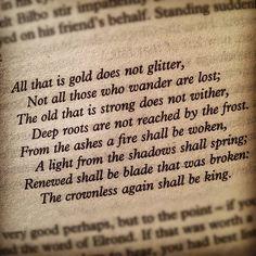 Of Aragorn, he said...