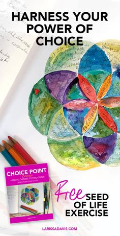 Harness your power of choice with this free flower of life tool - Gerrie Johnston Stress Management Activities, Self Care Activities, Creativity Exercises, Self Actualization, Seed Of Life, Let It Out, Right Brain, Oil Pastels, Flower Of Life