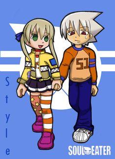 Style: Soul and Maka Chibi II by mikachan25.deviantart.com on @deviantART