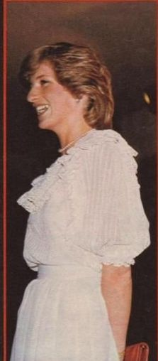 26 April 1983: Princess Diana at a reception at Art Gallery in Auckland.