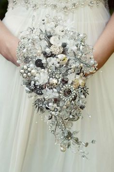 I love this idea for a wedding bouquet...Maybe a Christmas or winter wedding! Start collecting now!
