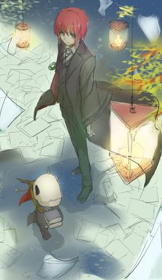 The Ancient Magus' Bride (魔法使いの嫁) M Anime, Fanarts Anime, Anime Love, Kawaii Anime, Anime Art, Elias Ainsworth, Chise Hatori, The Ancient Magus Bride, Chibi