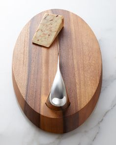 Swoop Cheese Board with Knife by Nambe at Neiman Marcus.