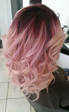 Pink champagne hair!