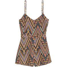 Short Jumpsuit $24.99 ($25) ❤ liked on Polyvore featuring jumpsuits, dresses, h&m, crepe jumpsuit, short jumpsuits, cut out jumpsuit, wide leg jumpsuit and v neck jumpsuit