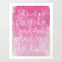 She+Has+Fire+In+Her+Soul+and+Grace+In+Her+Heart+Art+Print+by+Aedriel+-+$18.00